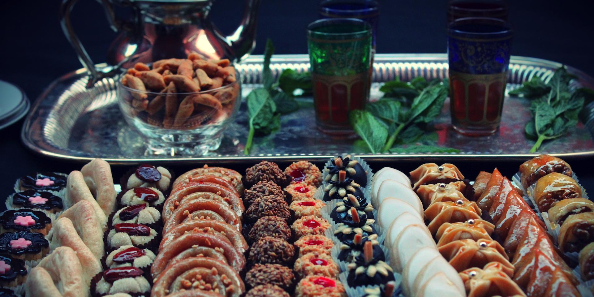 Un choix varié de fines pâtisseries Marocaines pour tous les goûts.