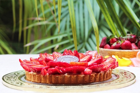 Le secret de nos tartes résident dans la séléction des fruits et dans la préparation de la pâte.Des fraises naturellement sucrées et une pâte sucrée avec de la crème d'Amande. - Pâtisserie Amandine Marrakech